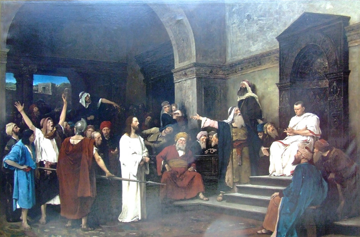 Mihaly von Munkacsy Reproductions-Christ in front of Pilate, 1881