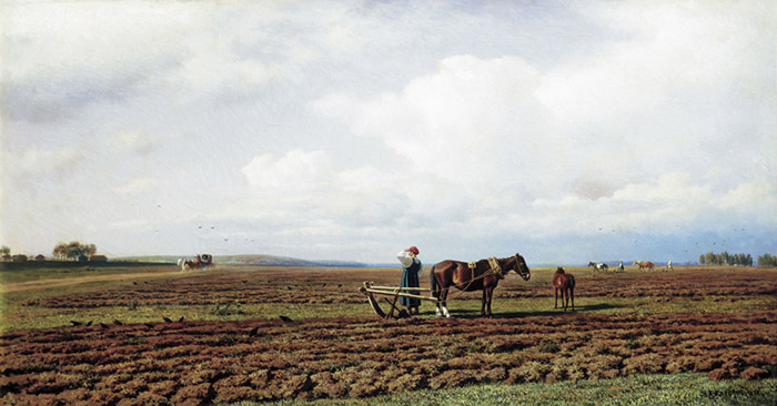 Mikhail Konstantinovich Klodt Reproductions-Ploughing, 1872