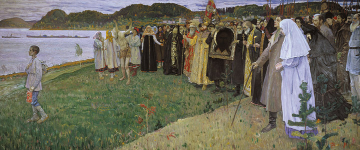 Paintings Reproductions Nesterov, Mikhail Vasilyevich Rus, Soul of People. 1914-1916