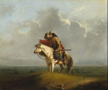Paintings Reproductions Miller, Alfred Jacob Lost on the Prairie