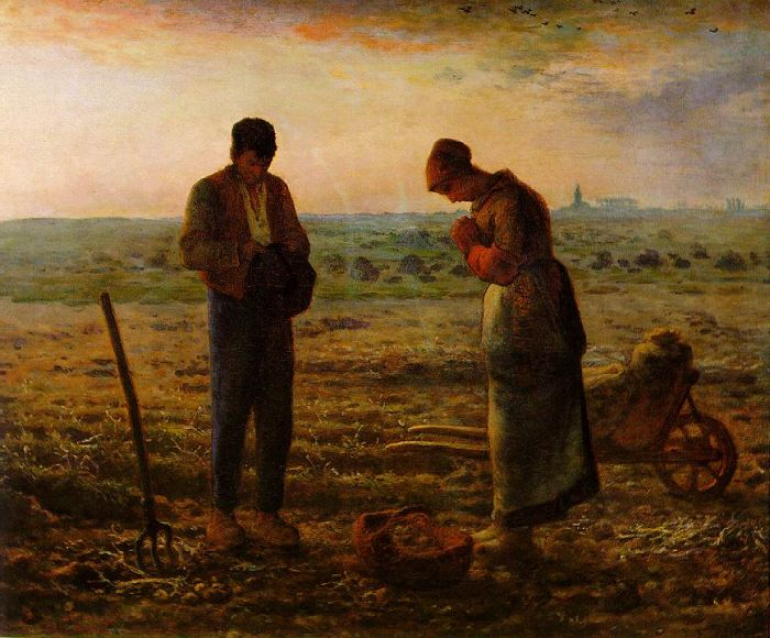 Paintings Reproductions Millet, Jean Francois The Angelus, 1857