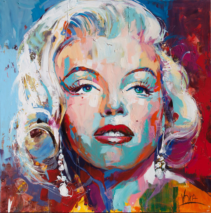 Custom PaintingsReproductions-Portrait of Marilyn Monroe