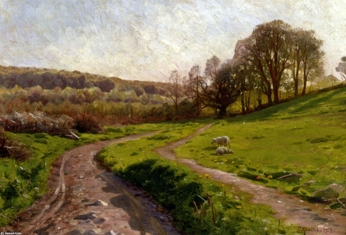 Peder Mork Monsted Reproductions-A Country Field