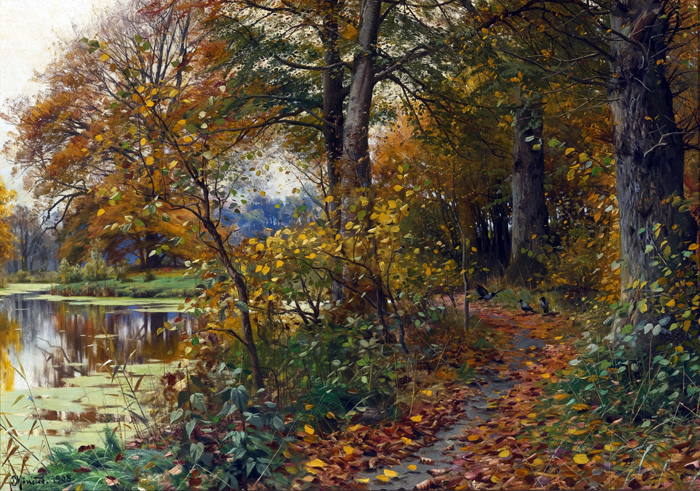 Paintings Reproductions Monsted, Peder Mork Charlottendun Forest