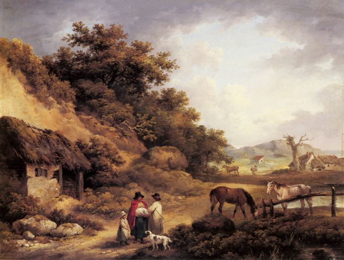 George Morland Reproductions-Wayside Gossips
