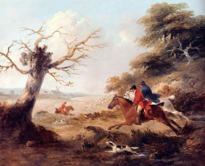 George Morland Reproductions-Full Cry