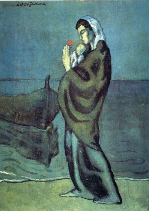 Pablo Picasso Reproductions-Mother and Child on the Beach