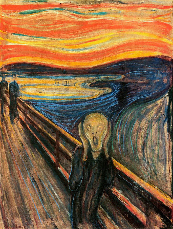 Custom PaintingsReproductions-The Scream, 1893