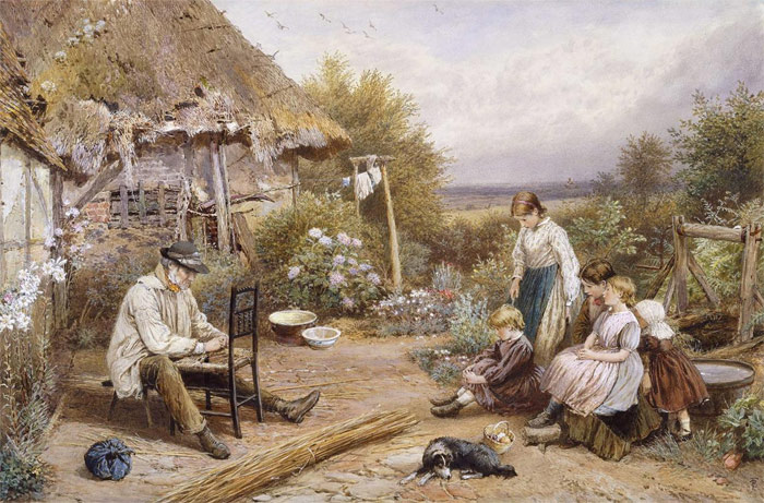 Paintings Reproductions Foster, Myles Birket The Old Chairmender