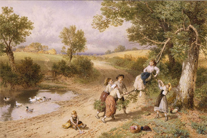 Myles Birket Foster Reproductions-The swing