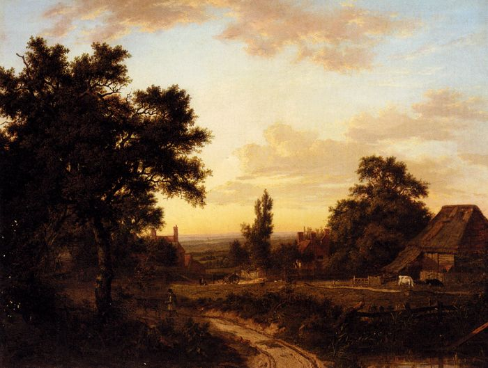 Patrick Nasmyth Reproductions-A View Of Addington, Surrey, With The Shirley Mills Beyond