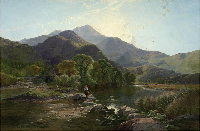 Henry John Boddington Reproductions-On the Hills , North Wales, 1860