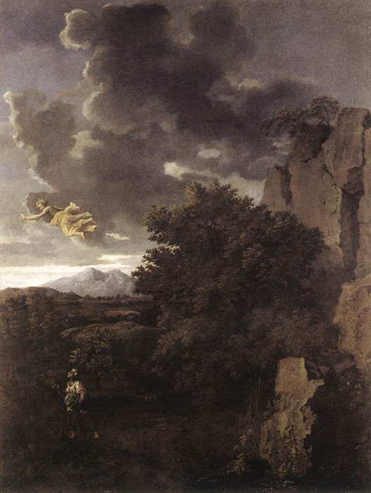 Paintings Reproductions Poussin, Nicolas Hagar and the Angel,  c.1660