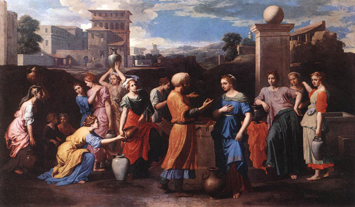 Paintings Reproductions Poussin, Nicolas Rebecca at the Well, c.1648