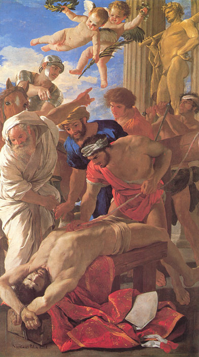 Paintings Reproductions Poussin, Nicolas The Martyrdom of St Erasmus