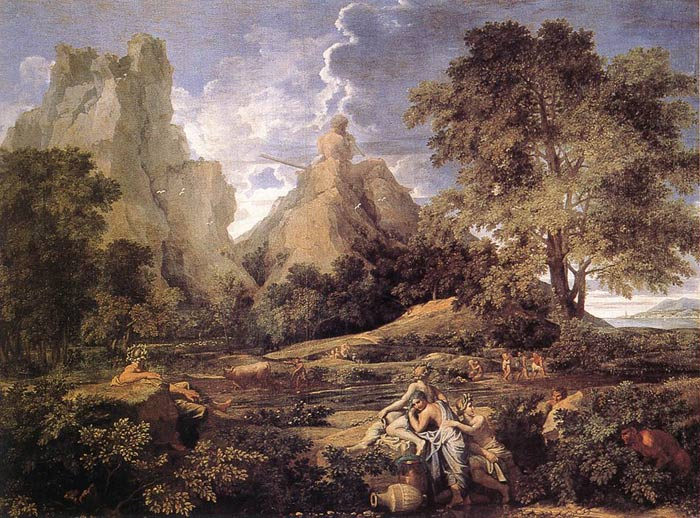 Paintings Reproductions Poussin, Nicolas Landscape with Polyphemus