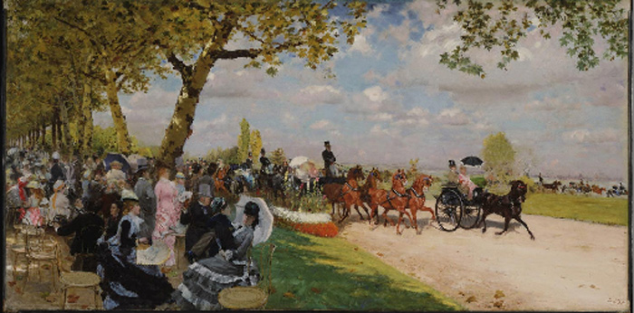 Giuseppe De Nittis Reproductions-Return from the Races, 1875