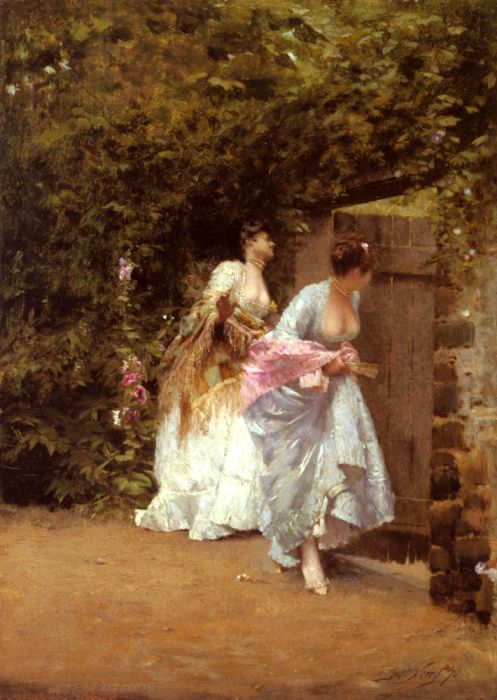 Giuseppe De Nittis Reproductions-Return From The Ball, 1870
