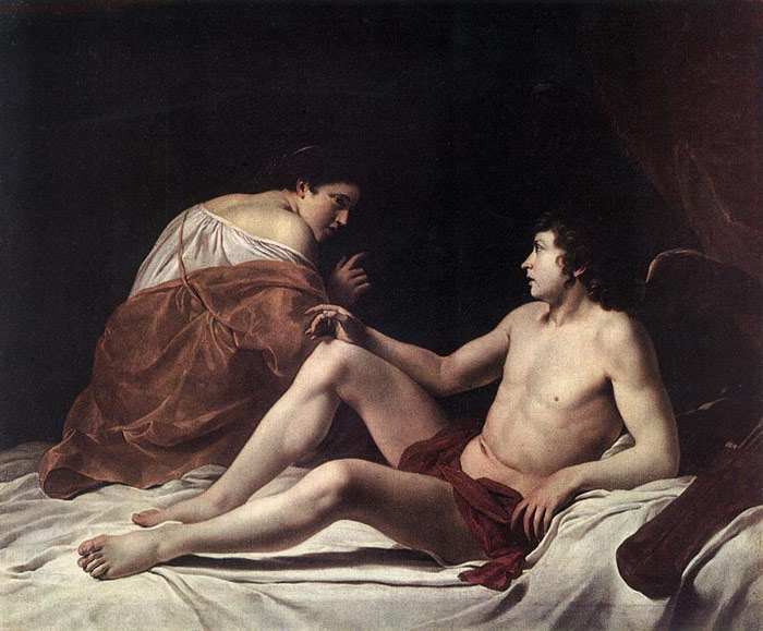 Paintings Reproductions Gentileschi, Orazio Cupid and Psyche, 1628-1630