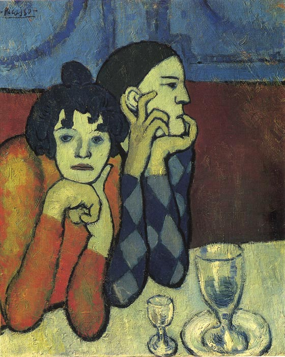 Paintings Reproductions Picasso, Pablo Arlekin and a Friend, 1901