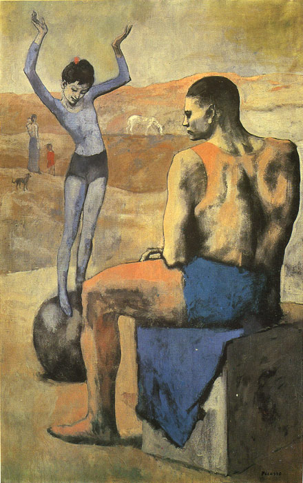 Pablo Picasso Reproductions-Girl on a Ball, 1905