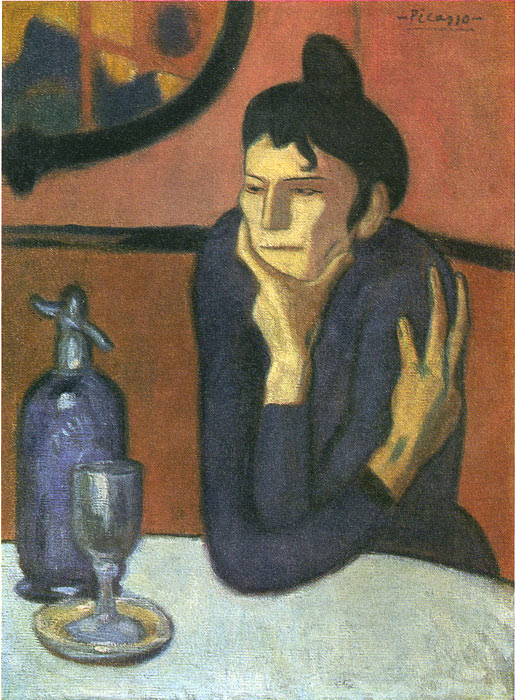 Pablo Picasso Reproductions-The Absinthe Drinker, 1901