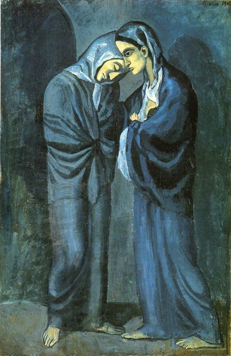 Pablo Picasso Reproductions-Two Sisters, 1902