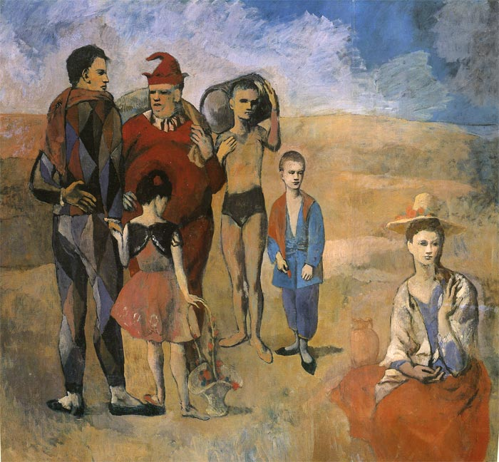 Paintings Reproductions Picasso, Pablo Comedians, 1905