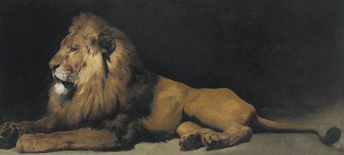 Aime Nicolas Morot Reproductions-Pair of Lions, part II