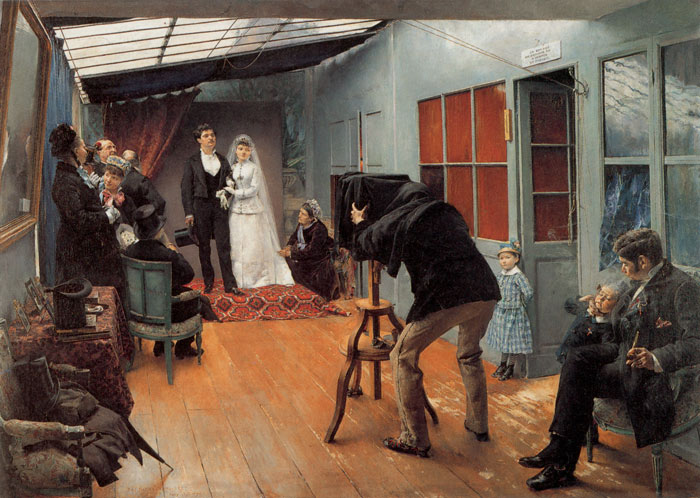 Paintings Reproductions Dagnan-Bouveret, Pascal-Adolphe Une Noce chez le photohraphe [Wedding Party at the Photographer's Studio], 1878-1879