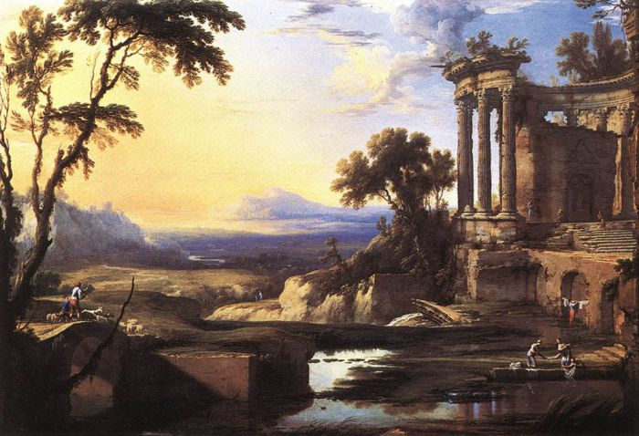Pierre Patel Reproductions-Landscape with Ruins
