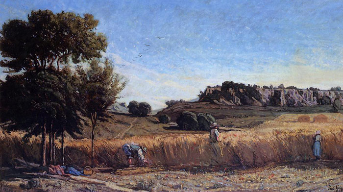 Paul-Camille Guigou Reproductions-Field of Wheat, 1860