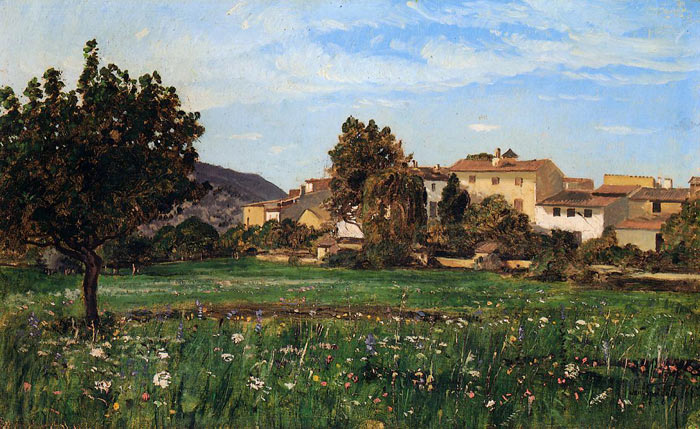 Paul-Camille Guigou Reproductions-Lourmarin, 1868