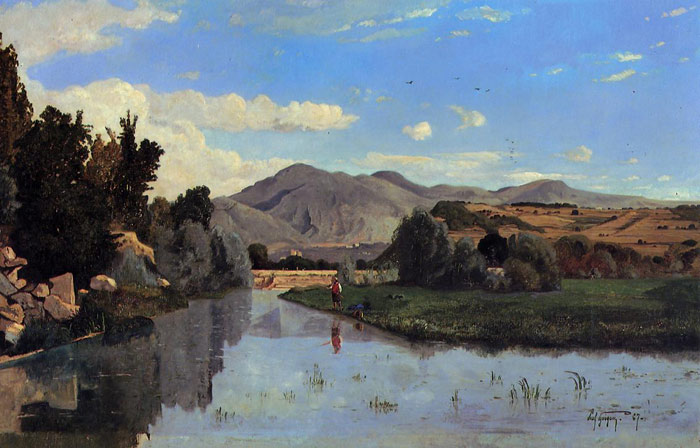Paul-Camille Guigou Reproductions-The Aiguebrun River at Lourmarin, 1867