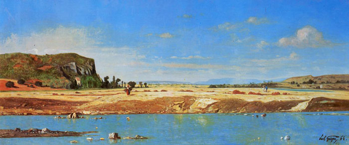 Paul-Camille Guigou Reproductions-The Banks of the Durance, 1864
