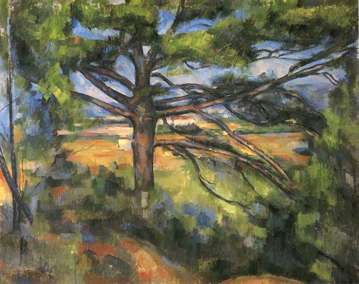 Paul Cezanne Reproductions-Large Pine and Red Earth, 1897