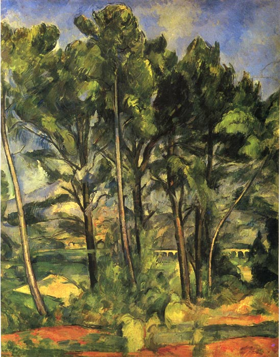 Paul Cezanne Reproductions-Trees, 1887