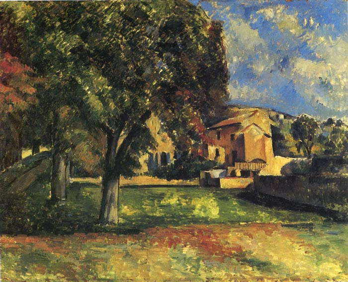 Paul Cezanne Reproductions-Trees in a Park, 1887