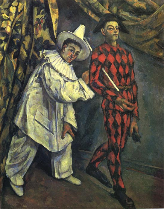 Paul Cezanne Reproductions-Pierrot and Harlequin , 1888