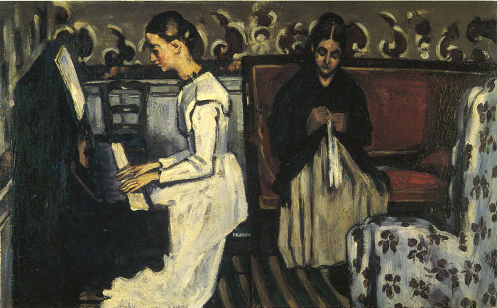 Paul Cezanne Reproductions-Young Girl at the Piano - Overture to Tannhauser, 1868