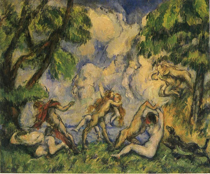 Paul Cezanne Reproductions-Bacchanalia, 1880
