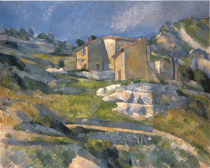 Paul Cezanne Reproductions-A House in the Provence, 1880