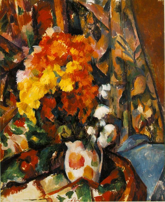 Chrysanthemums , 1896-1898 Cezanne, Paul Painting Reproductions