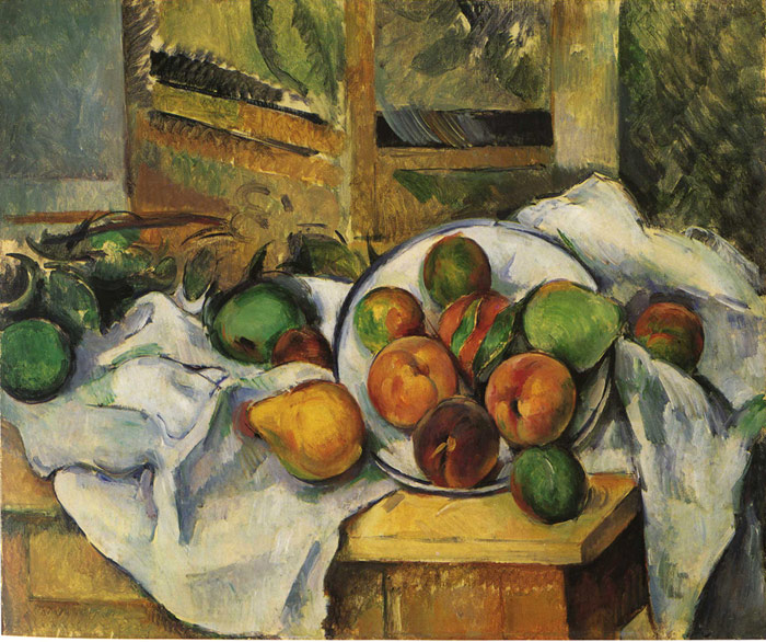 Paintings Reproductions Cezanne, Paul Table, Napkin and Fruit, 1895-1900