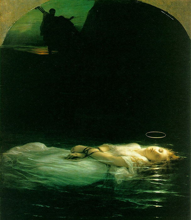 Paintings Reproductions Delaroche, Paul Young Christian Martyr, 1855
