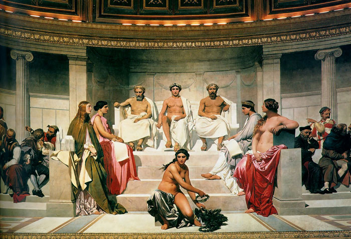 Paintings Reproductions Delaroche, Paul Hemicycle of the Ecole des Beaux-Arts, 1814
