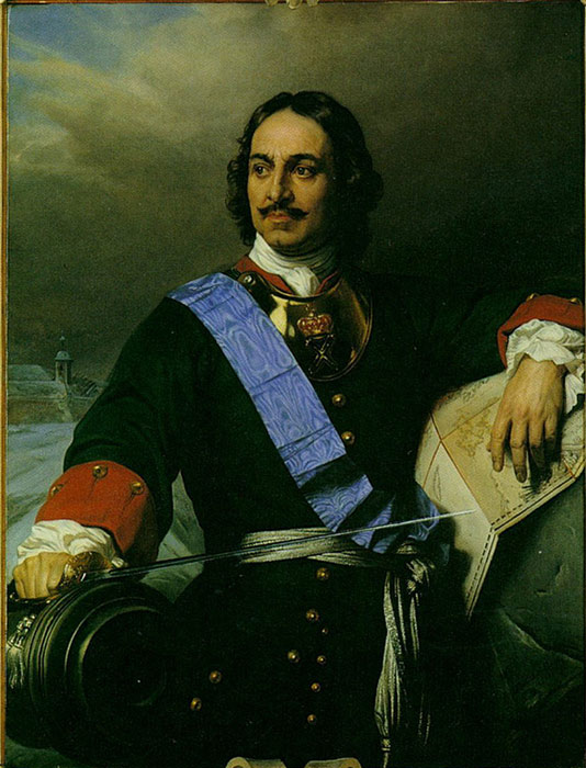 Paintings Reproductions Delaroche, Paul Peter the Great of Russia, 1838