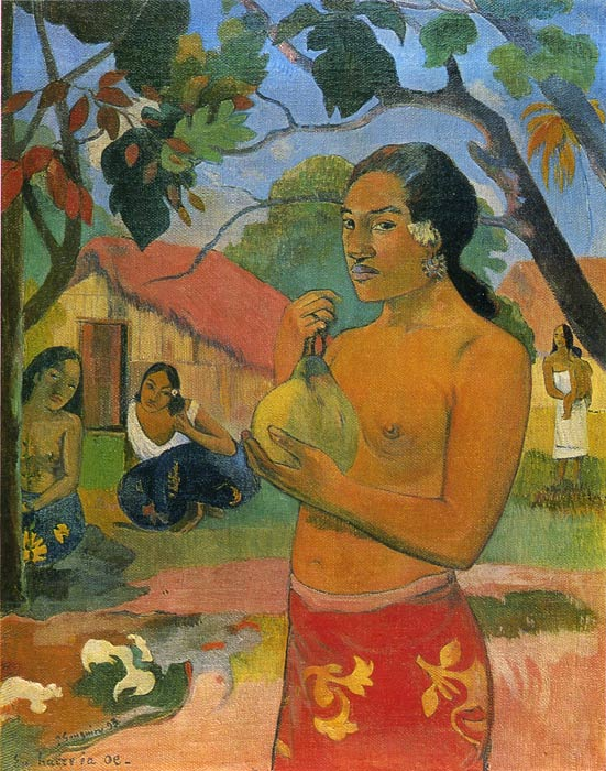 Where Are You Going (Eu haere ia oe), 1893 Gauguin, Paul Painting Reproductions