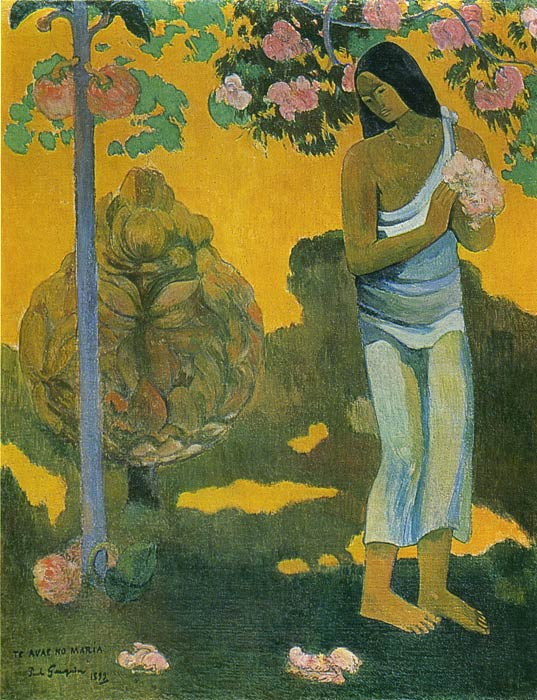 Woman Carrying Flowers, 1899 Gauguin, Paul Painting Reproductions