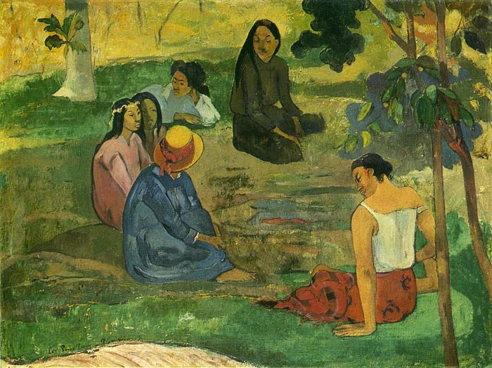 Paintings Reproductions Gauguin, Paul Conversation, 1891